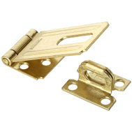 National Hardware N102-293 Safety Hasp 3-1/4 Inch Brass Plated Steel