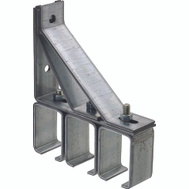 National Hardware N104-554 Triple Box Rail Bracket Galvanized Steel