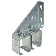 National Hardware N104-752 Double Adjustable Box Rail Splice Bracket Galvanized Steel