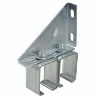 National Hardware N104-786 Wall Mount Adjustable Double Box Rail Bracket Galvanized Steel