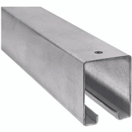 National Hardware N105-676 72 Inch Galvanized Steel Barn Door Track Box Style Trolley Rail