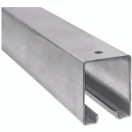 National Hardware N105-726 N263-301 N207-050 Barn Door Track Box Style 96 Inch Trolley Rail Galvanized Steel