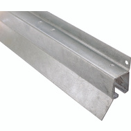 National Hardware N106-195 Face Mount Box Rail 96 Inch Galvanized Steel