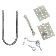 National Hardware N107-425 S748-405 Screen Door Hinge Set With Spring Pull And Hook/Eye Zinc Plated
