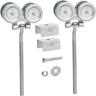 National Hardware N112-359 Flexible Box Rail Hangers With 1/2 Inch Offset 9 Inch Bolts Pair