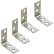 National Hardware N113-134 1-1/2 By 5/8 Inch Zinc Plated Steel Corner Braces 4 Pack
