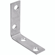 National Hardware N266-361 N266-379 2 By 5/8 Inch Zinc Plated Steel Corner Brace Bulk