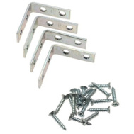 National Hardware N113-308 2 By 5/8 Inch Zinc Plated Steel Corner Braces 4 Pack