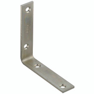 National Hardware N220-145 4 By 7/8 Inch Zinc Plated Steel Corner Brace Bulk