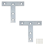 National Hardware N113-704 3 By 3 Inch Zinc T Plates 2 Pack