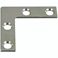 National Hardware N266-460 Flat Corner Iron Brace 1-1/2 By 3/8 By 0.07 Inch Zinc Plated Steel Bulk