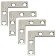 National Hardware N113-795 N226-670 Flat Corner Iron Braces 1-1/2 By 3/8 By 0.07 Inch Zinc Plated Steel 4 Pack