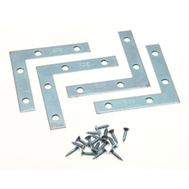 National Hardware N113-845 Flat Corner Iron Braces 2 By 3/8 By 0.07 Inch Zinc Plated Steel 4 Pack