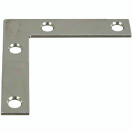 National Hardware N266-502 Flat Corner Iron Brace 2-1/2 By 1/2 By 0.07 Inch Zinc Plated Steel Bulk