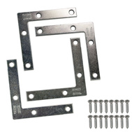 National Hardware N113-969 Flat Corner Iron Braces 3 By 1/2 By 0.07 Inch Zinc Plated Steel 4 Pack