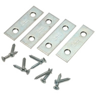 National Hardware N114-314 S839-126 2 By 1/2 Inch Zinc Plated Steel Mending Plates 4 Pack