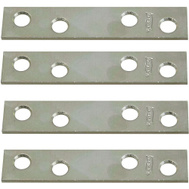 National Hardware N114-355 N226-787 Mending Braces 3 By 5/8 By 0.08 Inch Zinc Plated Steel 4 Pack