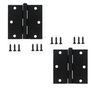 National Hardware N115-451 Screen Door Hinges 3 By 2-1/2 Inch Black 2 Pack
