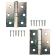 National Hardware N115-519 Screen Door Hinges 3 By 2-1/2 Inch Zinc Plated 2 Pack