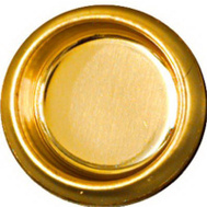 National Hardware N115-840 Recessed Finger Grip Cup Pulls 3/4 Inch Bright Brass 6 Pack