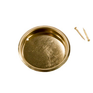 National Hardware N115-964 = N237-321 Recessed Round Cup Pull 1-3/4 Inch Bright Brass Finish