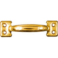 National Hardware N116-558 Rolled Steel Sash Lift 4 Inch Bright Brass