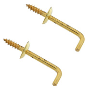 National Hardware N120-022 Shoulder Hooks 1-1/4 Inch Solid Brass 2 Pack