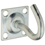 National Hardware N121-103 Clothesline Hook On 1.59 Inch Backplate 5/16 Inch Gauge Hook Zinc Plated Steel