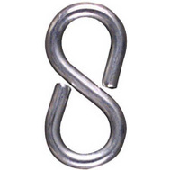 National Hardware N121-319 1-5/8 Inch Zinc Plated Steel Closed S Hooks 4 Pack