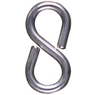 National Hardware N121-392 Closed S Hooks 1-1/8 Inch Zinc Plated Steel 6 Pack