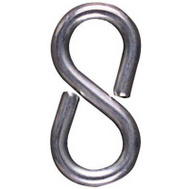 National Hardware N121-434 7/8 Inch Zinc Plated Steel Closed S Hooks 8 Pack