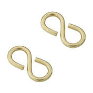 National Hardware N121-459 Closed S Hooks 1-1/4 Inch Solid Brass 2 Pack