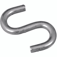 National Hardware N273-417 Heavy Open S Hook 1-1/2 Inch Zinc Plated Steel Bulk