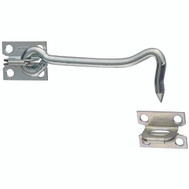 National Hardware N122-283 5 Inch Zinc Gate Hook And Plate Staple