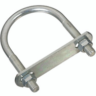 National Hardware N222-208 U-Bolt, Plate & Nuts 3/8 By 2-1/2 By 4 Inch Zinc Plated Steel