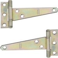 National Hardware N128-587 Light Duty T-Hinges 4 Inch Zinc Plated Steel 2 Pack