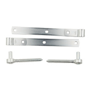 National Hardware N129-767 Screw Hook & Strap Hinges 12 Inch Zinc Plated Steel 2 Pack