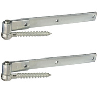 National Hardware N129-833 Screw Hook & Strap Hinges 16 Inch Zinc Plated Steel 2 Pack