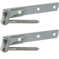 National Hardware N130-054 Screw Hook & Strap Hinges 8 Inch Zinc Plated Steel 2 Pack