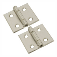 National Hardware N133-629 Surface Mount Cabinet Hinges 1-1/2 Inch Nickel Finish 2 Pack