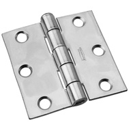 National Hardware N139-766 S819-047 S751-485 Removable Pin Broad Hinge 2-1/2 Inch Zinc Plated Steel