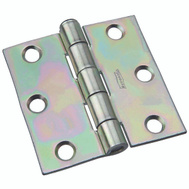 National Hardware N139-915 Removable Pin Broad Hinge 3-1/2 Inch Zinc Plated Steel