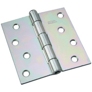 National Hardware N140-020 Removable Pin Broad Hinge 4 Inch Zinc Plated Steel