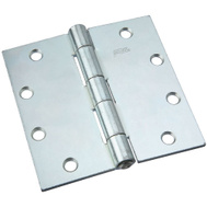 National Hardware N140-822 Non-Removable Pin Broad Hinge 5 Inch Zinc Plated Steel