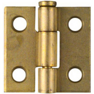 National Hardware N141-622 1 By 1 Inch Dull Brass Finish Narrow Hinges 2 Pack