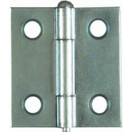 National Hardware N141-739 S751-576 Removable Pin Narrow Hinges 1-1/2 By 1-7/16 Inch Zinc Plated Steel 2 Pack