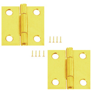 National Hardware N141-754 1-1/2 Inch Brass Finish Narrow Hinges 2 Pack