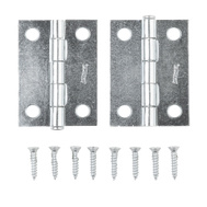 National Hardware N141-838 S752-386 Removable Pin Narrow Hinges 2 Inch Zinc Plated Steel 2 Pack