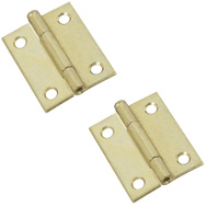 National Hardware N141-879 Removable Pin Narrow Hinges 2 By 1-9/16 Inch Brass Finish Steel 2 Pack