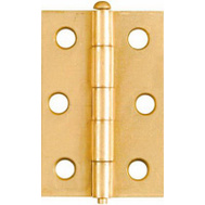 National Hardware N141-960 Removable Pin Narrow Hinges 2-1/2 By 1-11/16 Inch Brass Finish Steel 2 Pack